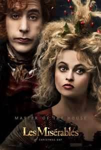 I know this isn't the main poster for Les Mis, but Borat and Bellatrix LeStrange killed this number, even though Sascha Baron Cohen was the only actor in this movie based in France to actually use a French accent